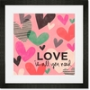 Love Is All You Need Hearts Framed Art Print