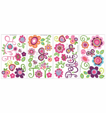 Love Joy & Peace Peel & Stick Wall Decals