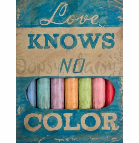 Love Knows No Color Canvas Wall Art
