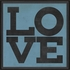 Love Poster in Blue Framed Wall Art