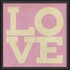 Love Poster in Pink Framed Wall Art