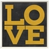 Love Poster in Yellow Framed Wall Art