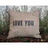 Love You Burlap Pillow