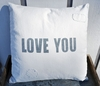Love You Canvas Pillow