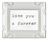Love You X Forever Art Print with White Frame