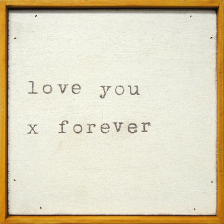 Love You X Forever Vintage Framed Little Art Print