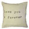 Love You X Throw Pillow