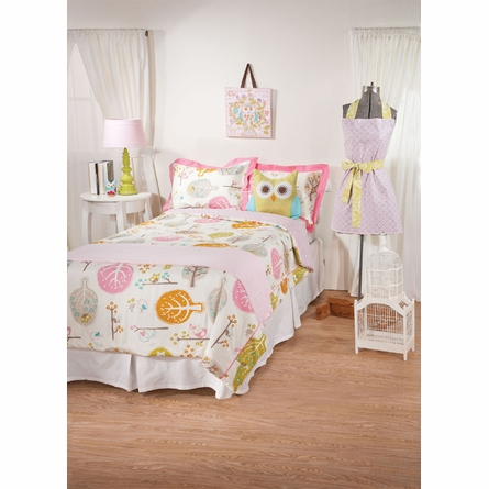 Lovebirds Tiger lily Orchid Twin Comforter and Sham Set