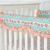 Lovely Coral Lace Crib Rail Cover