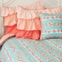 Lovely Coral Lace Duvet Cover