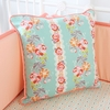Lovely Coral Lace Square Throw Pillow