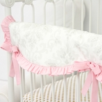 Lovely Damask Pink Crib Rail Cover