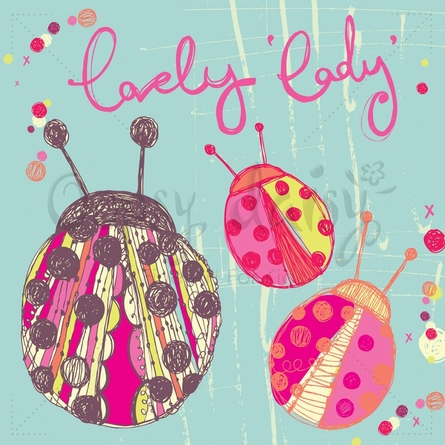 Lovely Lady Bugs Poster Wall Decal