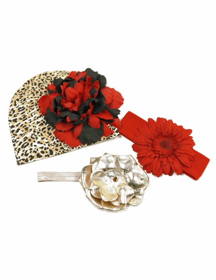 Lovely Little Leopard Budding Beauty Flower Hat Bouquet