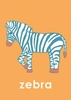 Lovely Zebra in Orange Canvas Wall Art