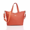 On Sale Lucinda Leather Diaper Bag in Sunset Orange