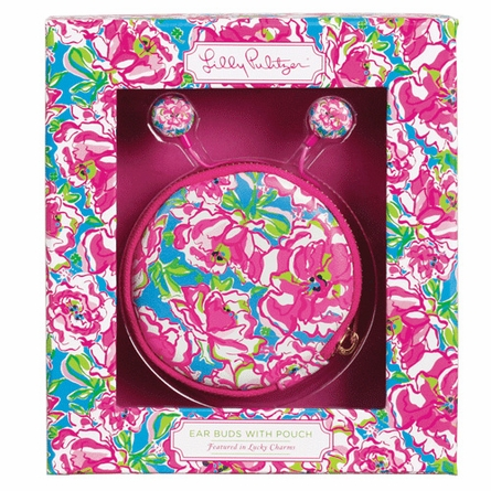 Lilly Pulitzer Lucky Charms Ear Buds with Pouch