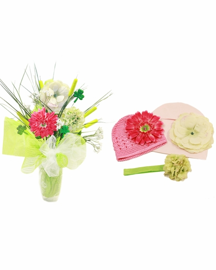 Lucky Lady Budding Beauty Flower Hat Bouquet