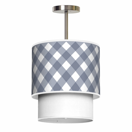 Lumiere Criss Cross Gingham Pendant