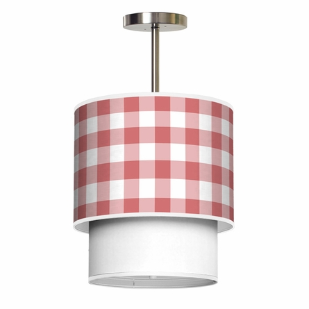 Lumiere Gingham Pendant