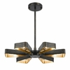 Luna Six Light Bronze and Gold Chandelier