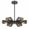 Luna Six Light Raw Steel Chandelier