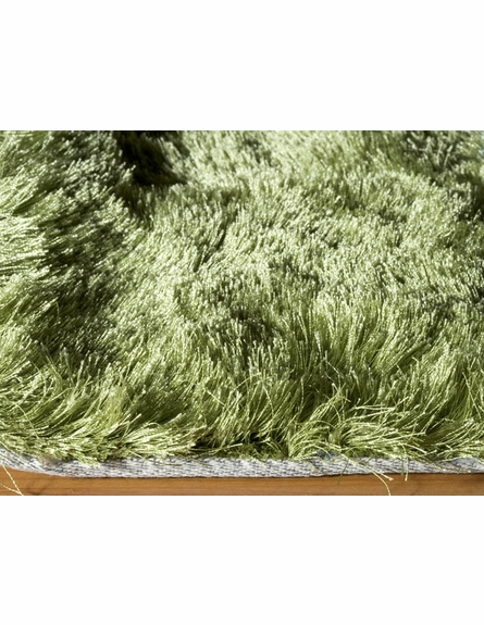 Luster Shag Rug in Apple Green