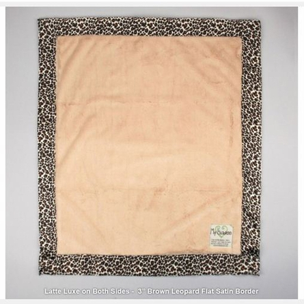 Luxe Baby Blanket with Animal Print Satin Trim