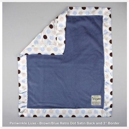 Luxe Baby Blanket with Autumn Retro Dot Satin Back