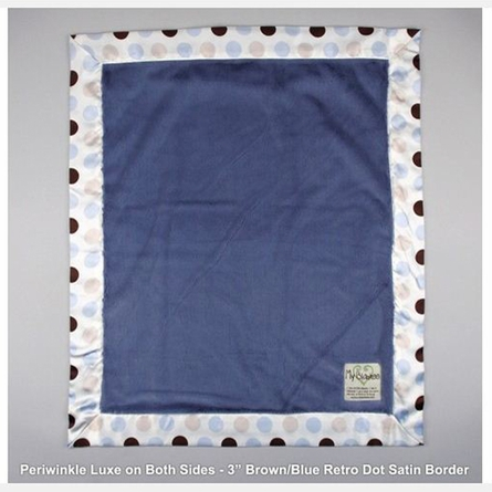 Luxe Baby Blanket with Autumn Retro Dot Satin Trim