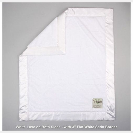 Luxe Baby Blanket with Cream Luxe Back