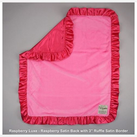 Luxe Baby Blanket with Satin Back and Ruffle