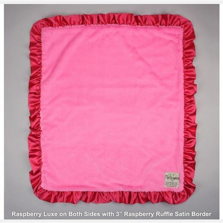 Luxe Baby Blanket with Satin Ruffle