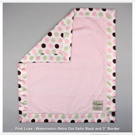 Luxe Blanket with Watermelon Retro Dot Satin Back
