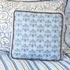 Luxe Blue Throw Pillow