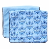 Luxe Blue Damask Burp Cloth Set