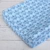 Luxe Blue Damask Cotton Changing Pad Cover