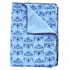 Luxe Blue Damask Piped Blanket