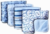 Luxe Blue Pinstripe Burp Cloth Set