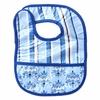 Luxe Blue Pinstripe Coated Bib