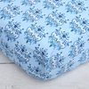 Luxe Blue Small Damask Crib Sheet