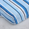Luxe Blue Stripe Crib Sheet
