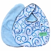 Luxe Dark Blue Swirl Bib Set