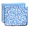 Luxe Dark Blue Swirl Burp Cloth Set