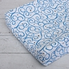 Luxe Dark Blue Swirl Cotton Changing Pad Cover