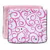 Luxe Dark Pink Swirl Burp Cloth Set