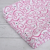Luxe Dark Pink Swirl Cotton Changing Pad Cover