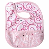 Luxe Dark Pink Swirls Coated Bib
