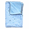Luxe Light Blue Swirl Piped Blanket