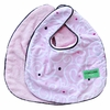 Luxe Light Pink Swirl Bib Set